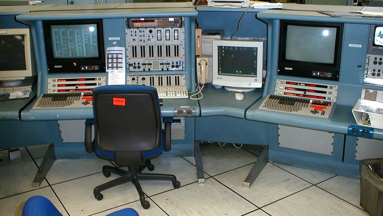 Picture of a typical Space Shuttle Launch Console